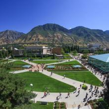 Aerial view of BYU campus